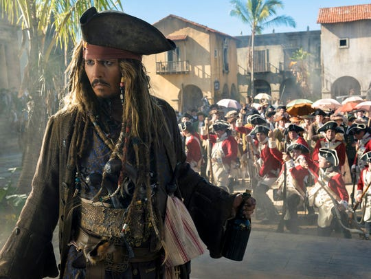 """Johnny Depp portrays Jack Sparrow in a scene from """"Pirates"""