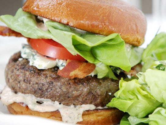 Eight4Nine's all-natural, certified Angus beef burger.
