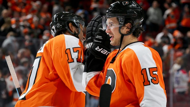 Michael Del Zotto, right, returned to the lineup for the first time in four games.
