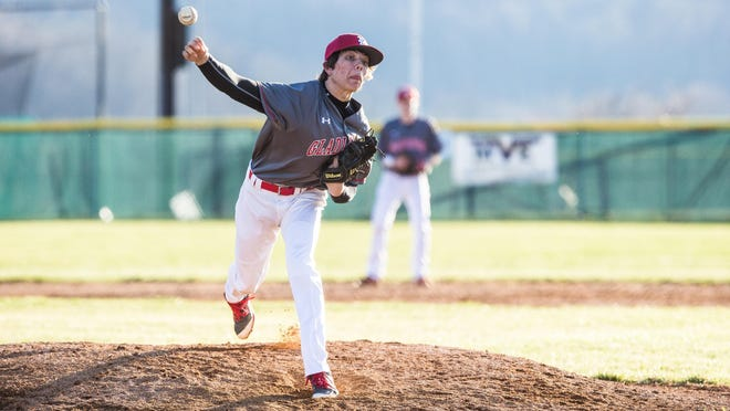Riverheads' Ryan Fitzgerald fires a pitch to a batter during their baseball game between Parry McCluer and Riverheads at Riverheads High School on Tuesday, March 15, 2016.