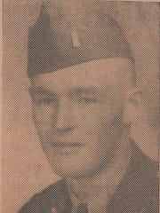 """2nd Lt. Edwin """"Bud"""" Johnson of Proctor in unidentified newspaper photo. He was one of the Vermonters killed in action."""