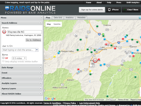 Haywood County Nc Map.Sheriff Launches New Crime Data Tool In Haywood County