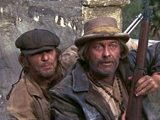 L. Q. Jones and Strother Martin in The Wild Bunch