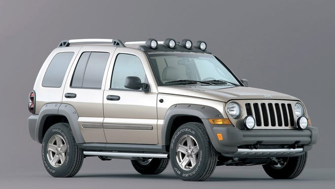 The 2005 Jeep Liberty is among 1.56 million SUVs recalled for potentially hazardous rear-end collisions.  (AP Photo/Chrysler, File)