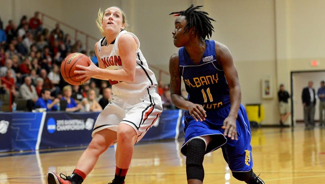 Union senior guard Amy Philamlee scored 34 points in this March 13 win over Albany State in the NCAA South regional.