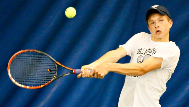 Dallastown's Holden Koons won the No. 1 singles competition over the weekend at the State College Invitational.