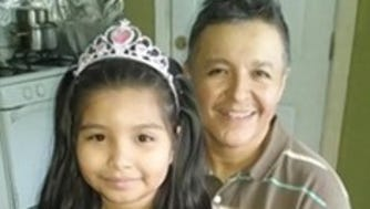 Rolando Meza Espinoza and his daughter.