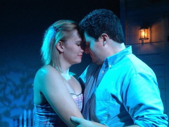 "Madge (Amanda Street) and Hal (Scott Mock) have a complicated relationship in ""Picnic."""