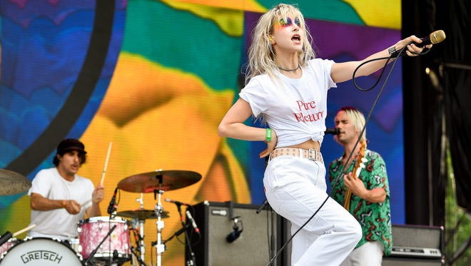 Paramore performs during the Bonnaroo Music & Arts Festival in Manchester, Tenn., on Friday, June 8, 2018.