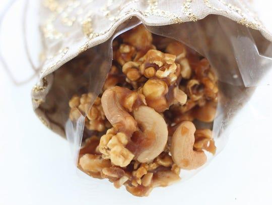 Salted caramel cashew corn.