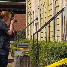 Dallas police at the scene where a 5-year-old girl was found dead Sunday afternoon at an apartment complex.