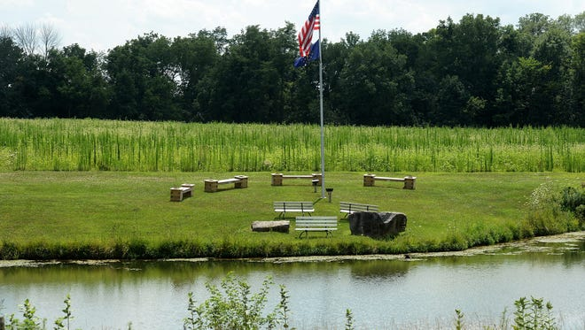 Part of the proposed Union County park near the Community Care Head Start building in Liberty.