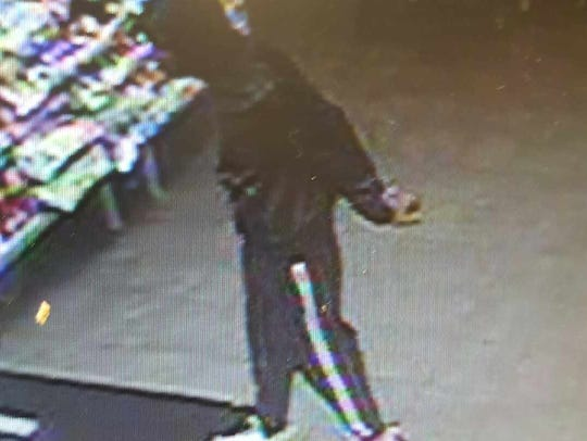 A petit-larceny suspect is shown in this image, image