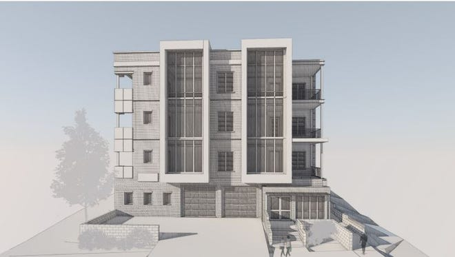 A perspective of the Brio condo building planned for 119 Acklen Park Drive