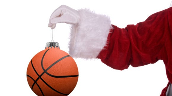 Christmas basketball.