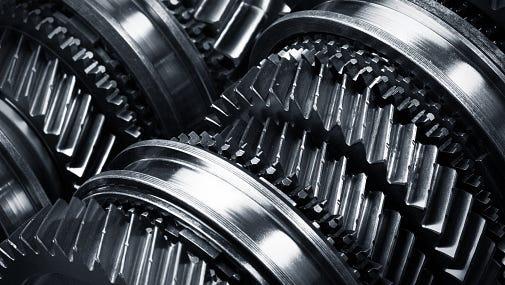 Gear metal wheels.