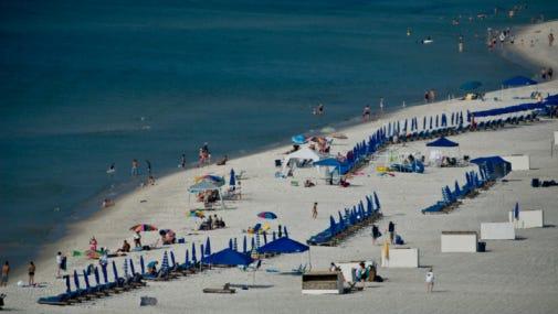 Gulf Shores Beach scene.