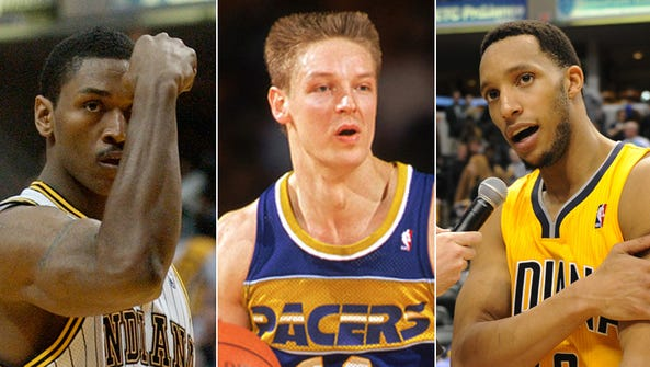 From left to right: Ron Artest, Detlef Schrempf and