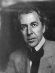 An undated portrait of Frank Lloyd Wright. A new Milwaukee Art Museum exhibit showcases the architect's early 20th-century designs.