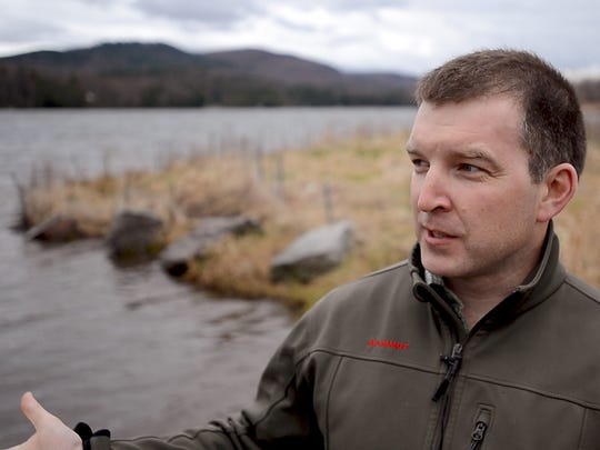 Jamie Carroll of the Lake Iroquois Association talks about the use of an herbicide called Sonar to control milfoil at the lake.