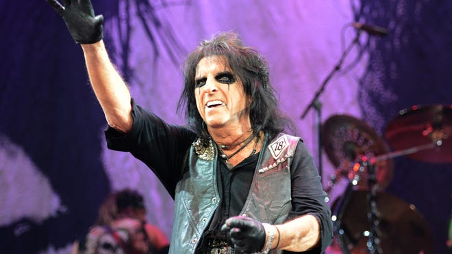 Alice Cooper performed at the Resch Center Tuesday night, but some fans were still waiting in line to get into the facility.