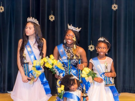 From left to right, 2017 title holders Faith Gonzolas,