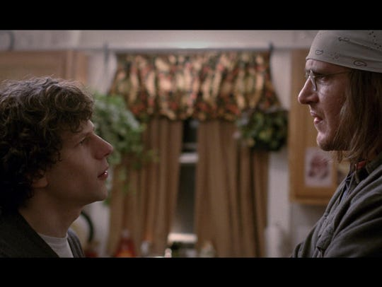 """Jessie Eisenberg and Jason Segel star in """"The End of"""