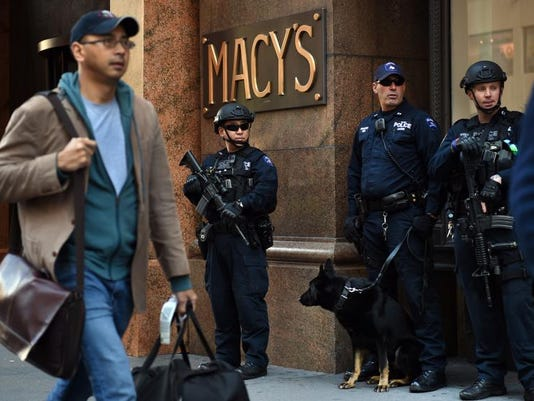 NYPD Macy's position