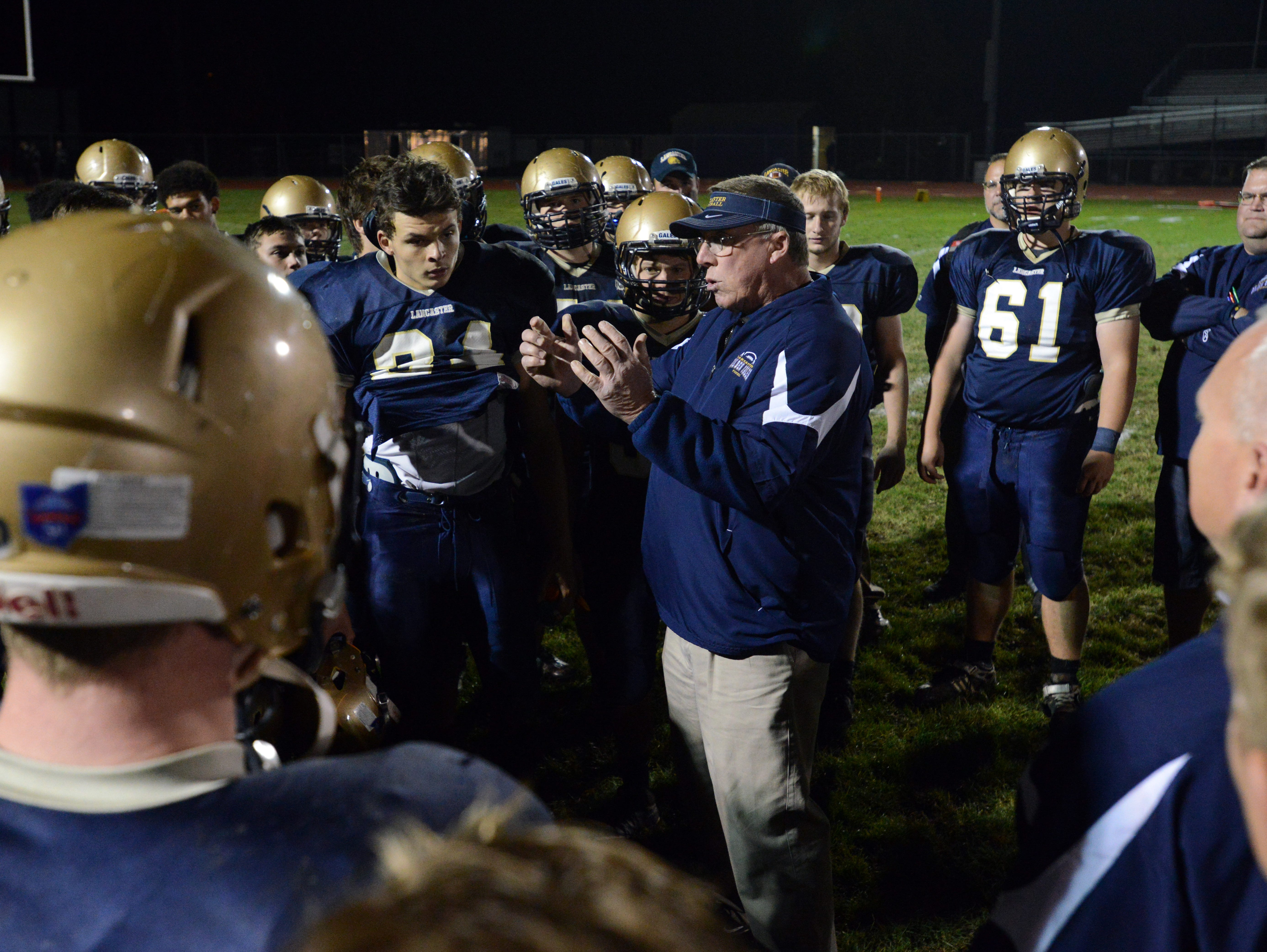 Lancaster coach Rob Carpenter is the 2015 Eagle-Gazette Coach of the Year.