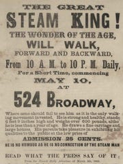 A Broadway broadside for the Steam King, around 1875.