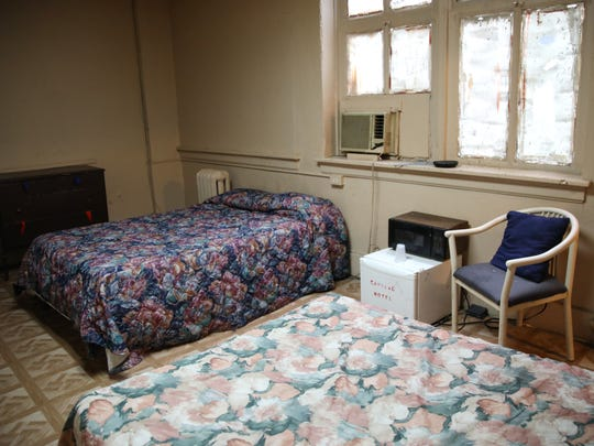 Room 705 at the Hotel Cadillac.