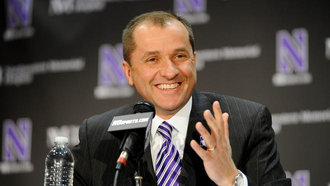 Northwestern Wildcats athletic director Jim Phillips at a news conference.