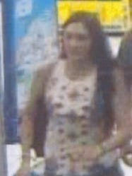 Howell police say this woman cursed at and pushed an Orthodox Jewish teenager.