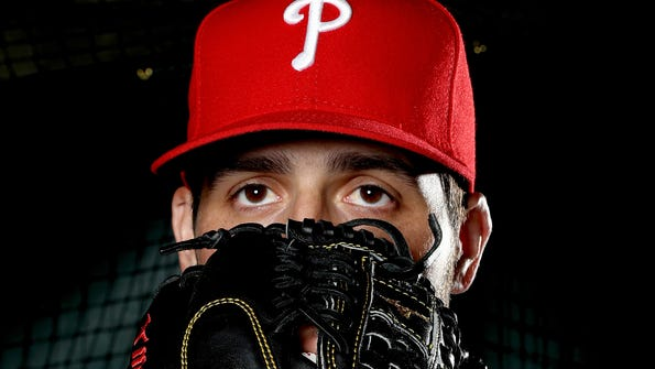 Mark Appel #66 of the Philadelphia Phillies poses for