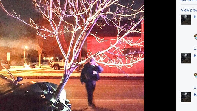 Illinois police recently pulled over a woman who was driving with a large tree lodged in her car's front grille.