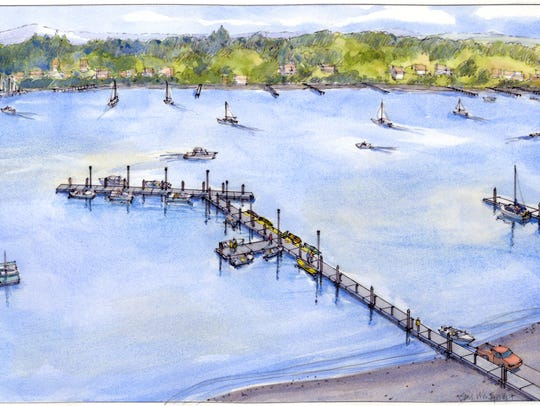 """The city's new """"hockey stick"""" dock will be bigger and"""