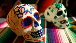 Exqusite detail goes into the alters for the Dia de los Muertos celebrations.