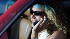 Talking on the phone while driving.