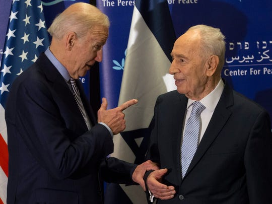 Vice President Biden meets with leading Israeli statesman
