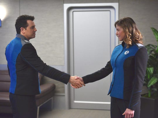 Seth MacFarlane and Adrianne Palicki in 'The Orville.'