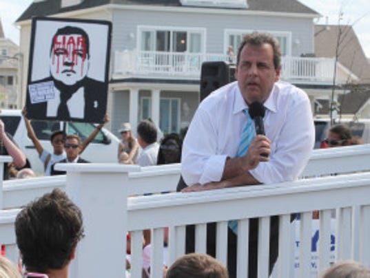 Wait. How many times has Gov. Chris Christie been to Belmar? (Robert Ward/Staff Photographer)