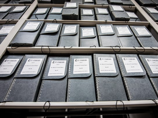 The Dr. Hector P. Garcia papers collection was taken to the History Associates headquarters in Maryland August 2016 for the digitization process and returned Jan. 30.