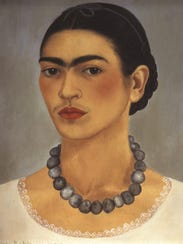 """""""Self-Portrait With Necklace"""" (1933), by Frida Kahlo,"""