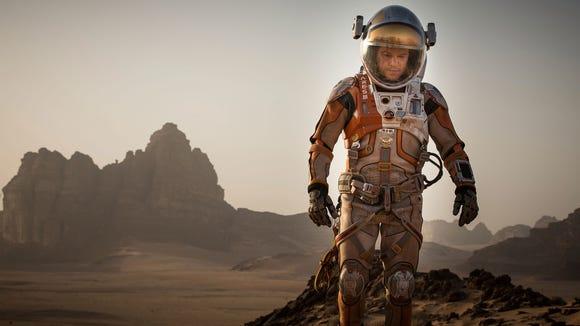 Matt Damon is walking to the International Space Station.