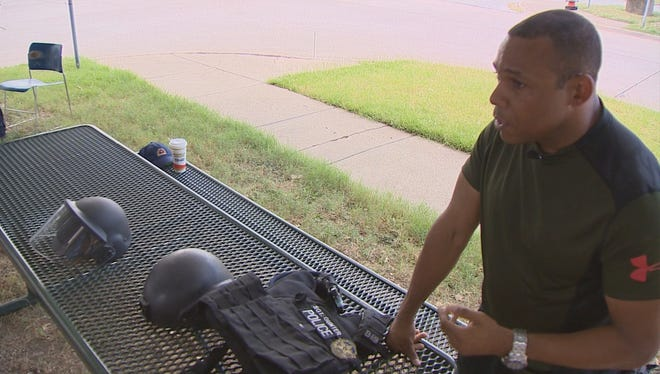 Dallas Police Sgt. Ivan Gunter bought this heavy ballistic gear himself. For six years he's helped officers buy the gear, but since the July 7, 2016, shooting of Dallas police, more officers want to order the gear.