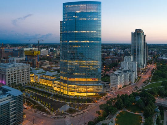 The new Northwestern Mutual Tower and Commons, 805 E. Mason St.,  is the state's second-tallest building at 550 feet and 32 stories.