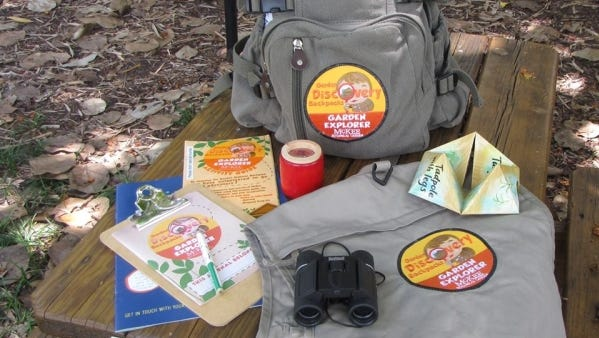"McKee Botanical Garden's backpack program, geared for toddlers through age 12, has five themed bags including ""Things With Wings,"" that encourages children to explore the garden and search for butterflies and birds."