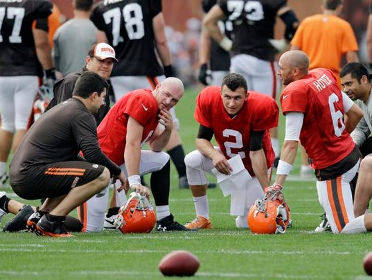 Browns QBs at camp