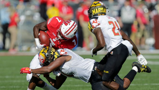 UW tailback Bradrick Shaw has struggled recently and had only 18 yards on seven carries against Maryland last week.