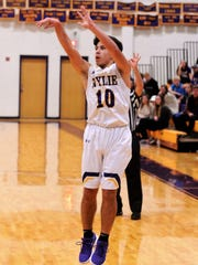 Wylie's Steven Lopez follows through on a shot during